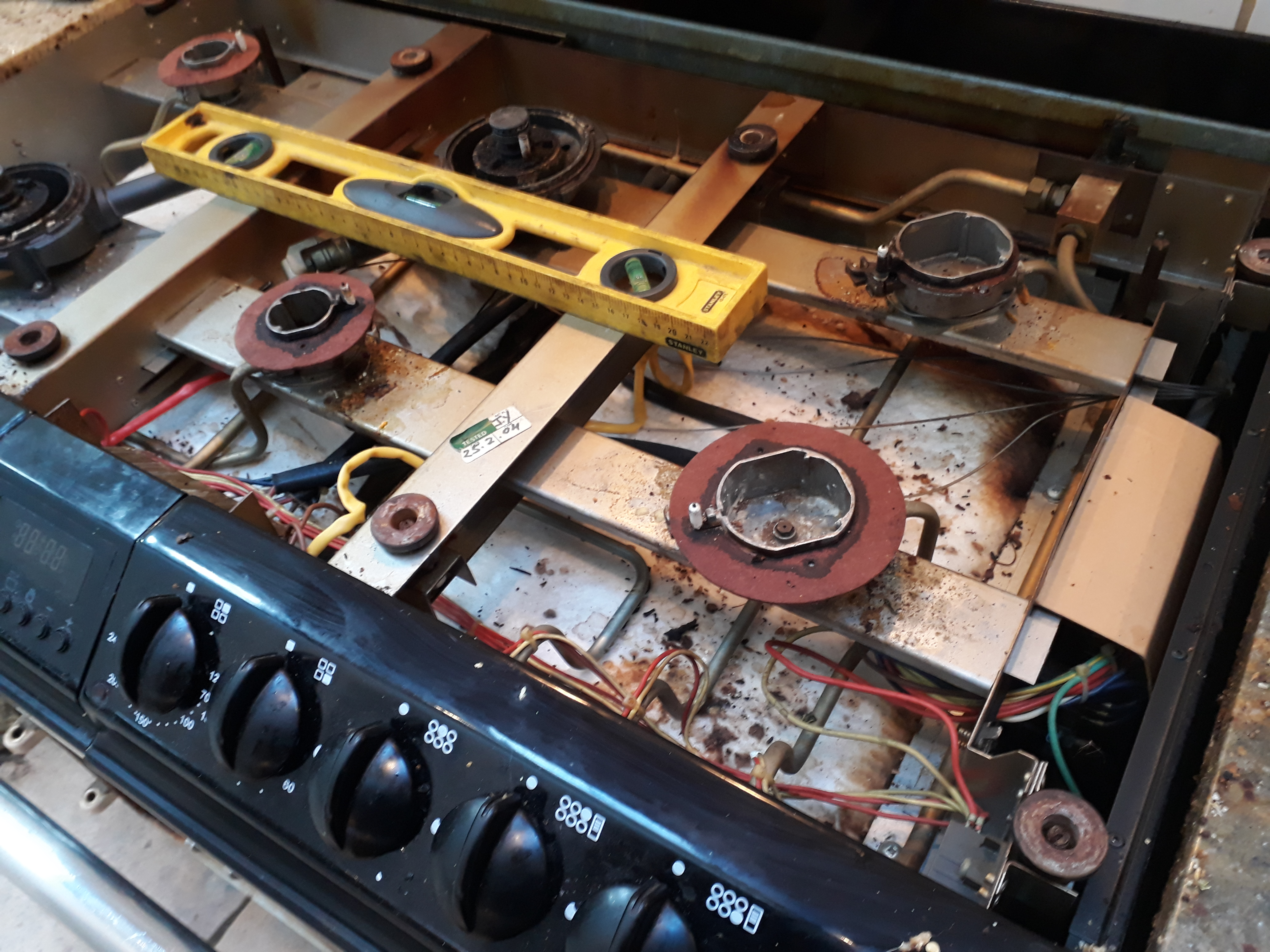 AGA DC6 being re-levelled after repair