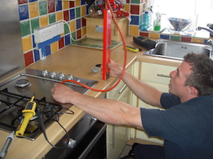 Testing a new gas cooker installation